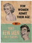"80159 - 6"" x 8"" Women and Men Age Funny Humour Vintage Metal Steel Sign Plaque"